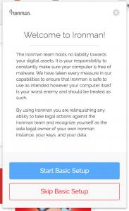 Tools | Enumivo (ENU) 在线钱包 Chrome 浏览器插件 Ironman 使用教程